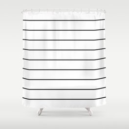 SKINNY STRIPE ((black on white)) Shower Curtain