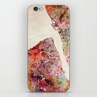 liverpool iPhone & iPod Skins featuring Liverpool by MapMapMaps.Watercolors