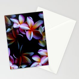 Flowers With a Black Background Stationery Cards