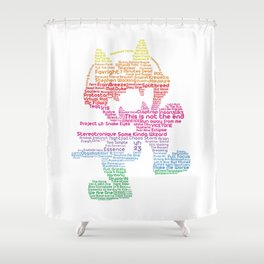 MonsterCat Typography Shower Curtain