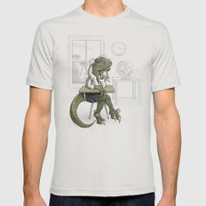 Clever Gurl Mens Fitted Tee Silver LARGE