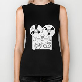 Reel To Reel Line Drawing Biker Tank