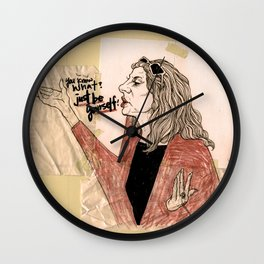 """""""just be yourself!"""" Wall Clock"""