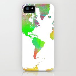 World Map 7 iPhone Case