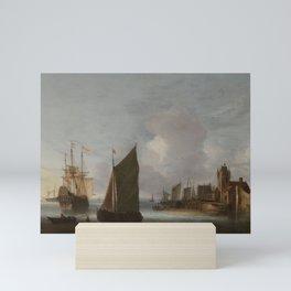 Shipping on the East Scheldt near the Zuidhavenpoort, Zierikzee, Hendrick van Anthonissen, 1640 - 16 Mini Art Print