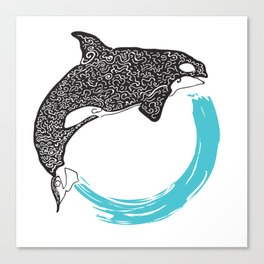 Orca Circle Canvas Print