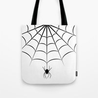 spider Tote Bags featuring Spider by haroulita