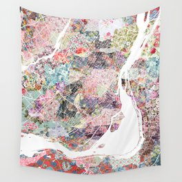 Montreal map canada Wall Tapestry