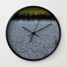Natures Treasure New Jersey Marshland Addition Wall Clock