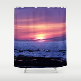 Surreal Sunset on the Sea Shower Curtain