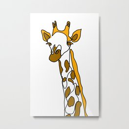 Giraffe in a line Metal Print