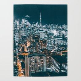Toronto by night - City at night Poster