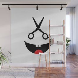 Monster barber #society6 #decor #buyart #artprint Wall Mural