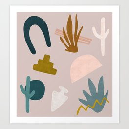 Desert Shapes Art Print