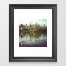 Mirror Duck Pond  Framed Art Print
