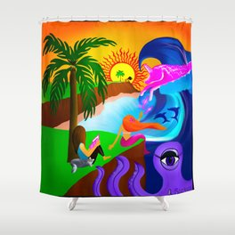 A Spectacle Shower Curtain