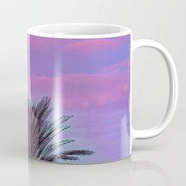 Glitch Rainbow Sunrise Palm Tree Coffee Mug