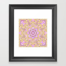 Cassy in Lilac Framed Art Print