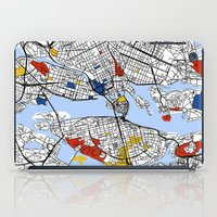 stockholm iPad Cases featuring Stockholm mondrian by Mondrian Maps