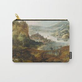Joos De Momper (II) - River Landscape With Boar Hunt Carry-All Pouch