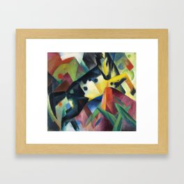 "Franz Marc ""Jumping Horse (Springendes Pferd)"" (II) Framed Art Print"