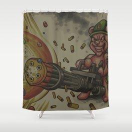 The Gumdrop Gatling Gun Shower Curtain
