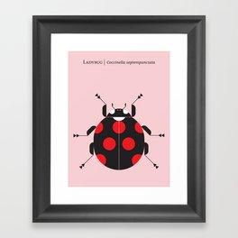 Ladybug Pink Framed Art Print