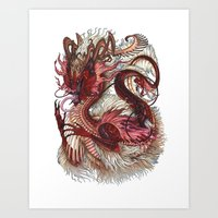 Dragon Fu Art Print