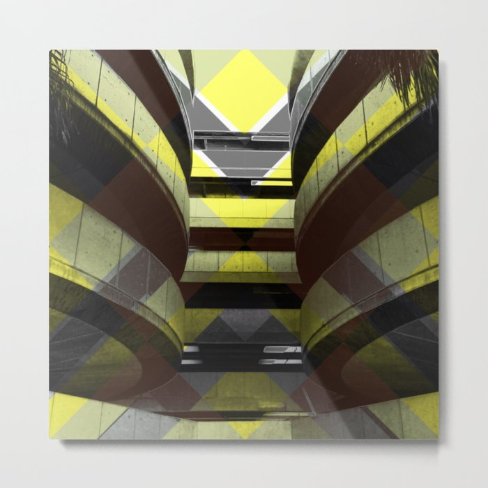 Puzzled Spirals [yellow] Metal Print