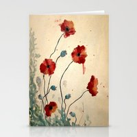 poppies Stationery Cards featuring Poppies by Megan Hunter