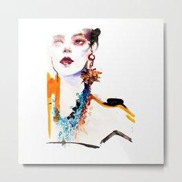 Fashion illustration Gaultier Metal Print
