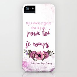 MAYBE SOMEDAY . COLLEEN HOOVER iPhone Case