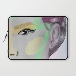 gray woman and colors Laptop Sleeve