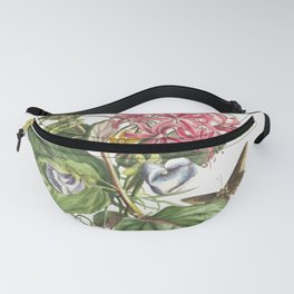 Plantae et papiliones rariores No 9-Daffodil Cats Claw and Bur Buttercup by Georg Dionysius Ehret Fanny Pack