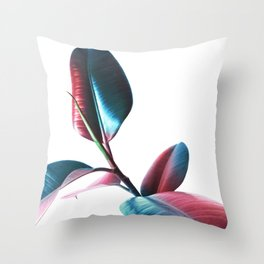 Colourful Rubber Leaves Throw Pillow