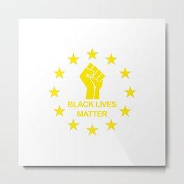 Black Lives Matter Symbol Yellow Metal Print