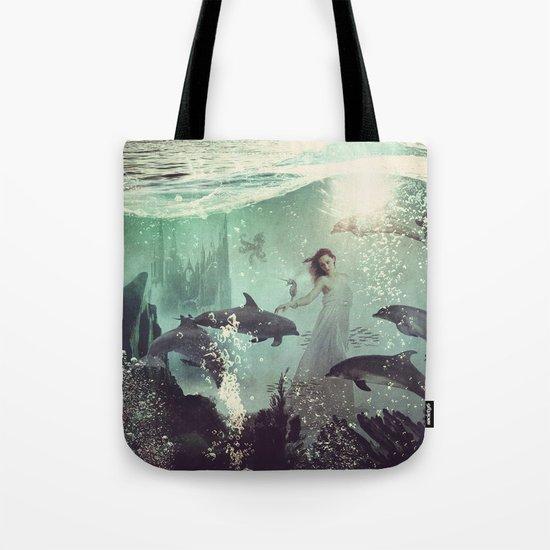 The Sea Unicorn Lady Tote Bag