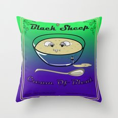 Black Sheep Cream Of Bleat Throw Pillow