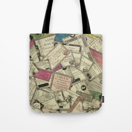 Antique Engraving of French Currency Tote Bag