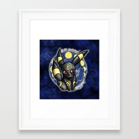 umbreon Framed Art Prints featuring 197 - Umbreon by Lyxy