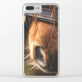 Soft Horse Nose Clear iPhone Case