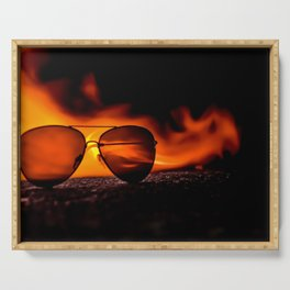 """""""Fire Sunglasses"""" Serving Tray"""