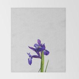 Iris Still Life, Flower Photography Throw Blanket