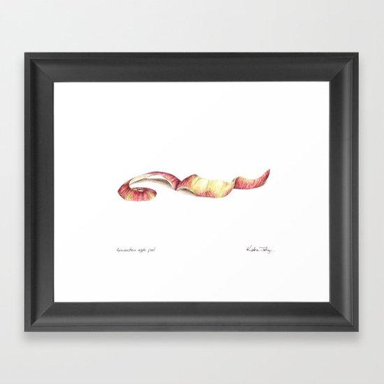 Gravenstein apple peel Framed Art Print