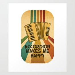 Accordion Melodeon Piano Accordion Retro Gift Idea Art Print