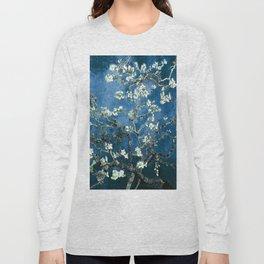 Van Gogh Almond Blossoms : Ocean Blue Long Sleeve T-shirt