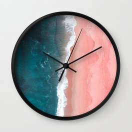 Turquoise Sea Pastel Beach Wall Clock