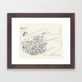 Excitement Or Nerves Framed Art Print