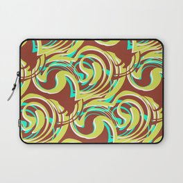 Ella - Retro Swirls Green Brown Laptop Sleeve