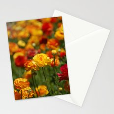 Yellow and orange ranunculus flower Stationery Cards